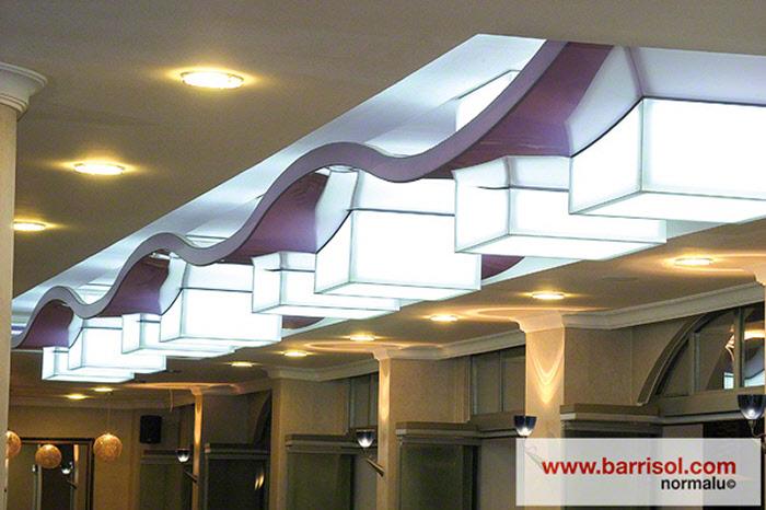 Barrisol Lighting details