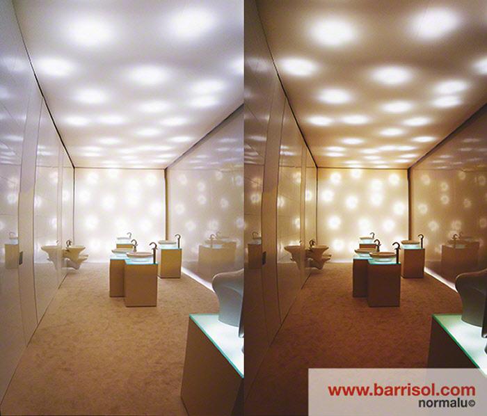 Barrisol lighting wall  realizations
