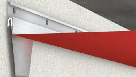Ceiling installation with invisible tracks