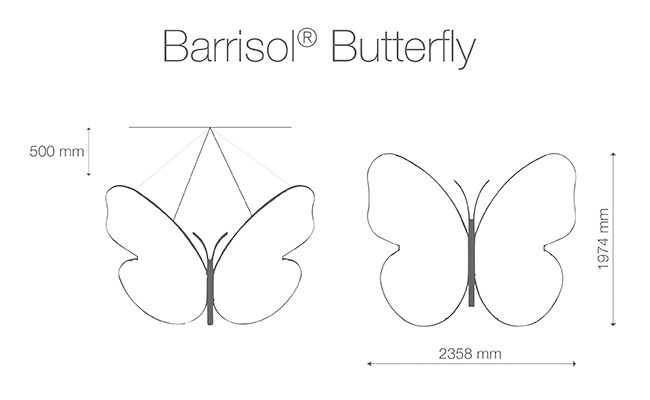Barrisol Butterfly Lamp by Chantal Thomass